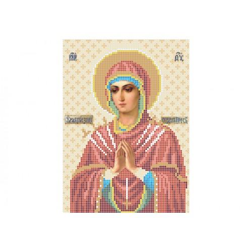 """Схема для вишивки бісером ікони """"Божа матір «Пом'якшення злих сердець» (Семистрільна)"""""""