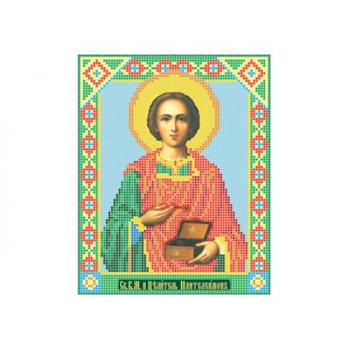"""Схема для вышивки бисером иконы """"Святой великомученик и целитель Пантелеймон"""""""