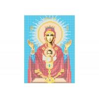 """""""Божья матерь Неупиваемая чаша"""" - Схема для вышивки бисером иконы"""