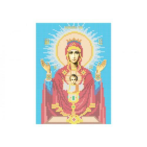 """Схема для вышивки бисером иконы """"Божья матерь Неупиваемая чаша"""""""