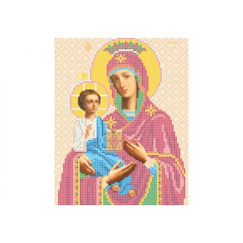 """Схема для вышивки бисером иконы """"Божья матерь Троеручица"""""""