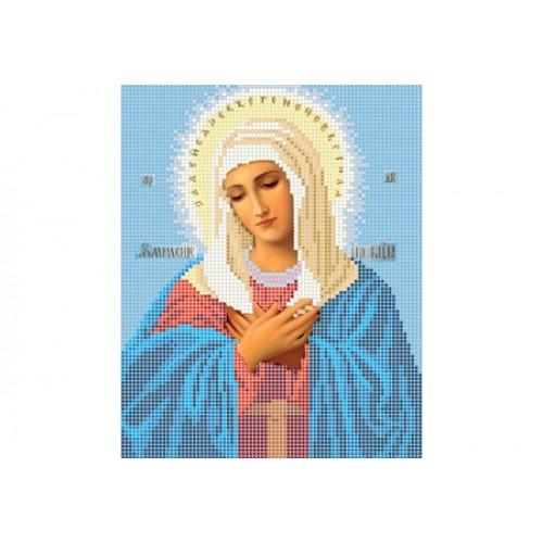 """Схема для вышивки бисером иконы """"Божья матерь Умиление"""""""