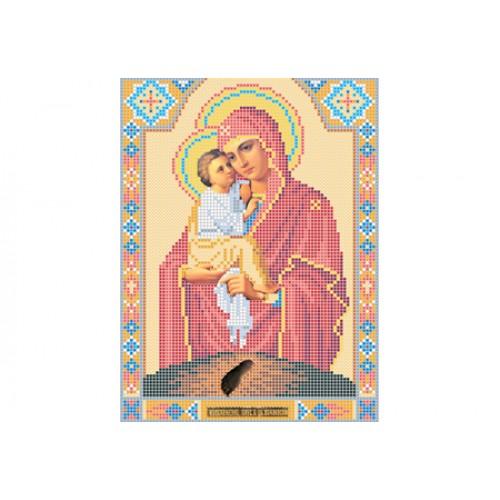 """Схема для вышивки бисером иконы """"Божья матерь Почаевская"""""""
