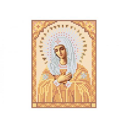 """Схема для вышивки бисером иконы """"Божья матерь Умиление А5"""""""