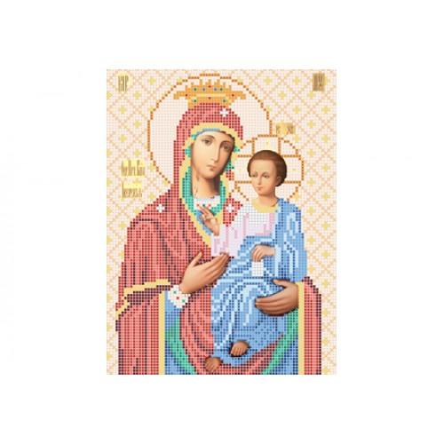 """Схема для вишивки бісером ікони """"Божа матір Іверська"""""""