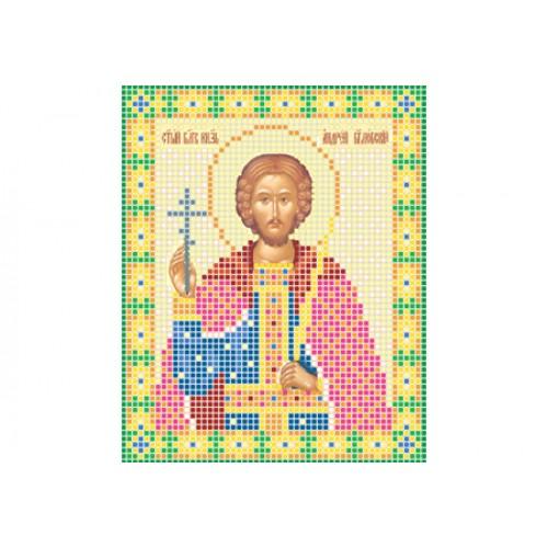 """Схема для вишивки бісером ікони """"Святий благовірний князь Андрій Боголюбський"""""""