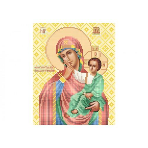 """Схема для вишивки бісером ікони """"Божа матір Відрада і Розрада"""""""