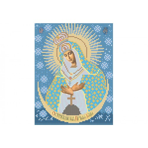"""Схема для вышивки бисером иконы """"Божья матерь Остробрамская"""""""