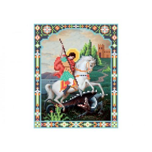 """Схема для вышивки бисером иконы """"Святой Георгий Победоносец"""""""