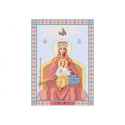 """Схема для вишивки бісером ікони """"Божа матір Державна"""""""