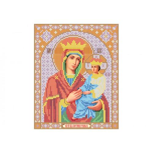 """Схема для вишивки бісером ікони """"Божа матір Споручниця грішних"""""""