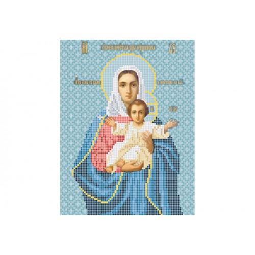 """Схема для вишивки бісером ікони """"Божа матір Леушинська"""""""