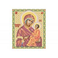 """""""Божа матір Тихвінська"""" - Схема для вишивки бісером ікони"""