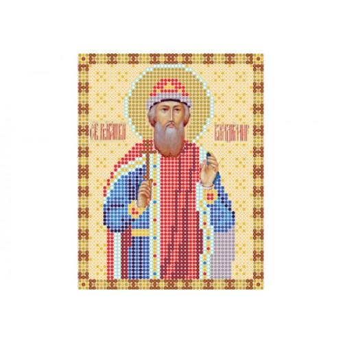 """Схема для вышивки бисером иконы """"Святой Владимир"""""""