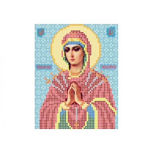 """Схема для вышивки бисером иконы """"Божья матерь Семистрельная"""""""
