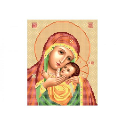 """Схема для вышивки бисером иконы """"Божья матерь Касперовская"""""""