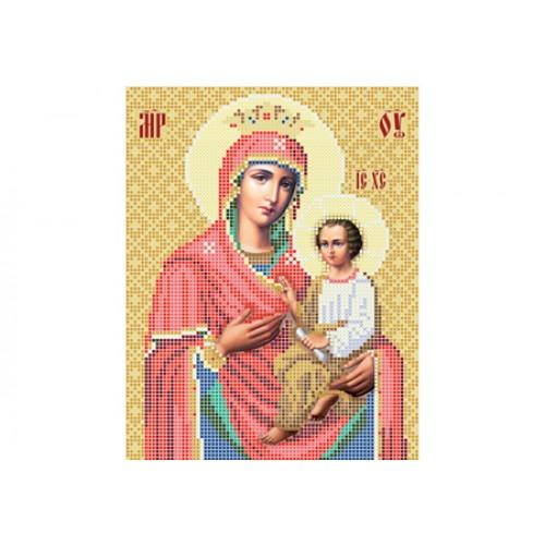 """Схема для вишивки бісером ікони """"Божа матір Скоропослушниця"""""""