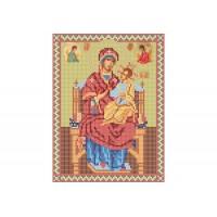 """""""Божа матір Всецариця"""" - Схема для вишивки бісером ікони"""
