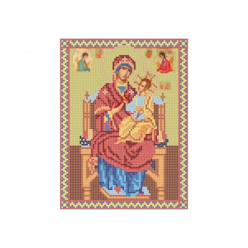 """Схема для вышивки бисером иконы """"Божья матерь Всецарица"""""""