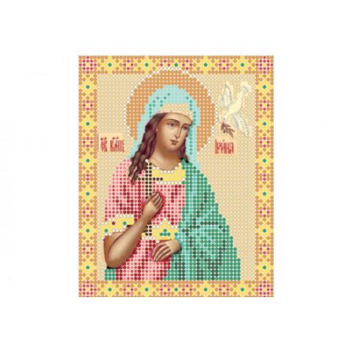 """Схема для вышивки бисером иконы """"Святая Ирина"""""""