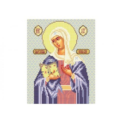 """Схема для вышивки бисером иконы """"Божья матерь Калужская"""""""