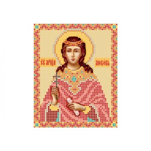 """Схема для вышивки бисером иконы """"Святая мученица Любовь"""""""