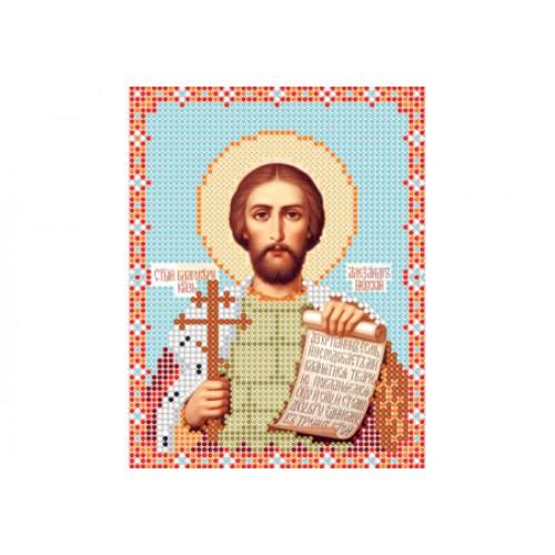 """Схема для вышивки бисером иконы """"Святой равноапостольный князь Александр"""""""