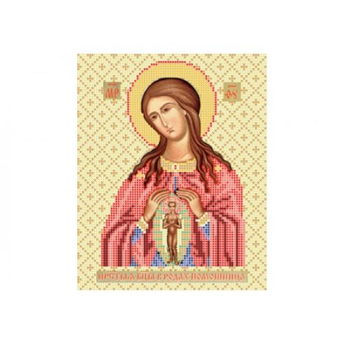 """Схема для вышивки бисером иконы """"Божья матерь Помощница в родах"""""""