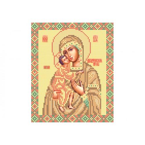 """Схема для вишивки бісером ікони """"Божа матір Федорівська"""""""