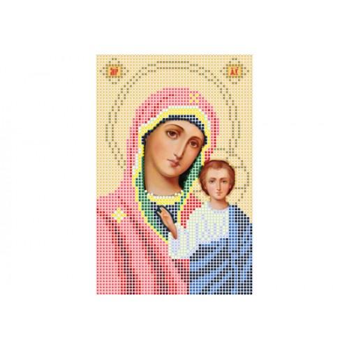 """Схема для вышивки бисером иконы """"Божья матерь Казанская А5"""""""