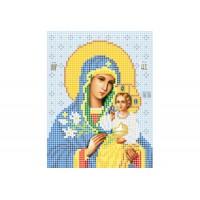 """""""Божья матерь Неувядаемый цвет А5"""" - Схема для вышивки бисером иконы"""