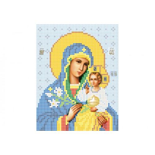 """Схема для вышивки бисером иконы """"Божья матерь Неувядаемый цвет А5"""""""