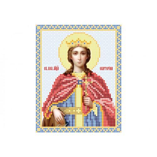 """Схема для вышивки бисером иконы """"Святая Екатерина"""""""