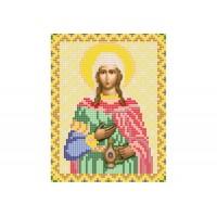 """""""Святая мученица Светлана, Фотина"""" - Схема для вышивки бисером иконы"""