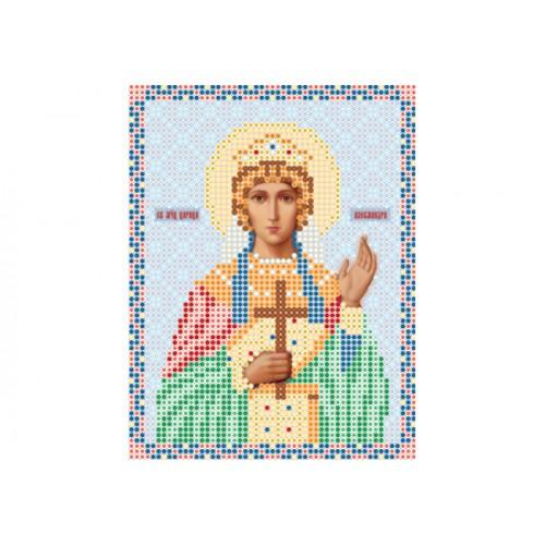 """Схема для вышивки бисером иконы """"Святая мученица Александра"""""""