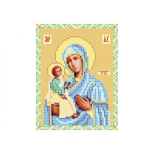 """Схема для вишивки бісером ікони """"Божа матір Єрусалимська"""""""