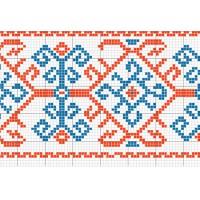 """Бесплатная схема для вышивки крестом """"Орнамент 6"""""""