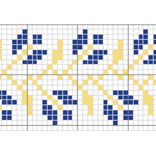 """Безкоштовна схема для вишивки хрестиком """"Орнамент 12"""""""