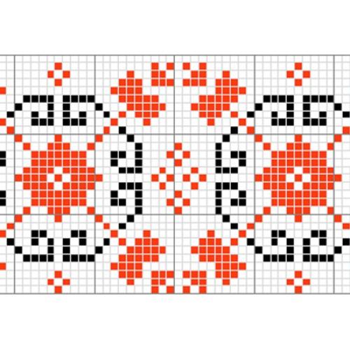 """Бесплатная схема для вышивки крестом """"Орнамент 16"""""""