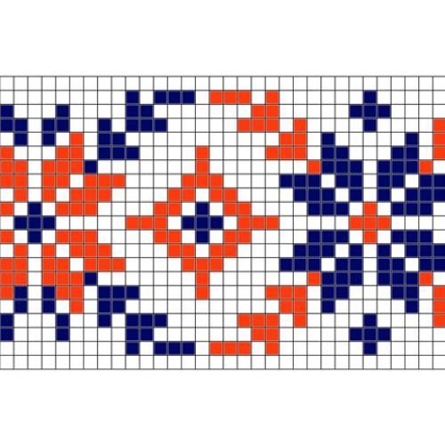 """Бесплатная схема для вышивки крестом """"Орнамент 25"""""""