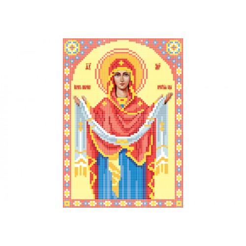 """Схема для вышивки бисером иконы """"Божья матерь Покрова"""""""