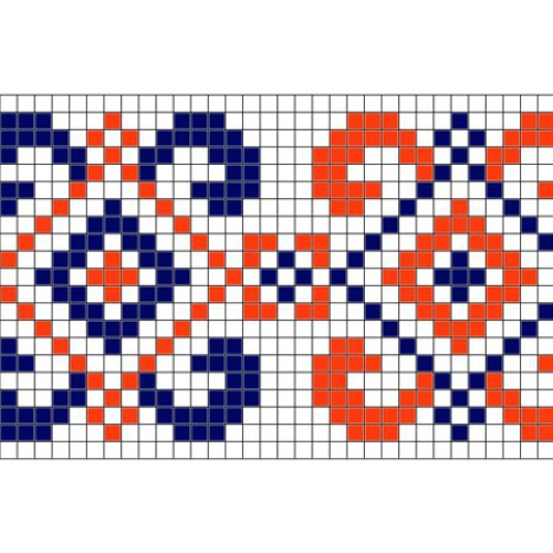"""Бесплатная схема для вышивки крестом """"Орнамент 28"""""""
