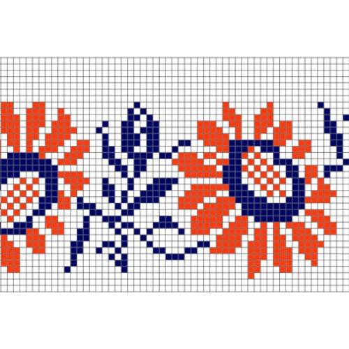 """Бесплатная схема для вышивки крестом """"Орнамент 29"""""""