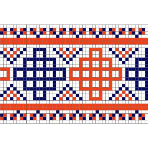 """Бесплатная схема для вышивки крестом """"Орнамент 35"""""""