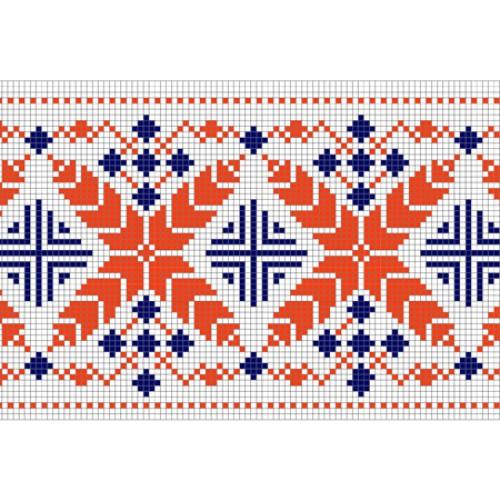 """Безкоштовна схема для вишивки хрестиком """"Орнамент 37"""""""