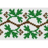 """Бесплатная схема для вышивки крестом """"Орнамент 38"""""""