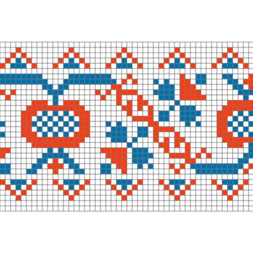 """Безкоштовна схема для вишивки хрестиком """"Орнамент 53"""""""