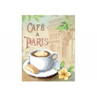 """""""Кава у Парижі"""" - Схема для вишивки бісером"""