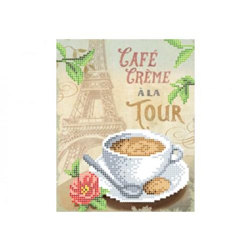 """Схема для вышивки бисером """"Кофе со сливками у башни"""""""