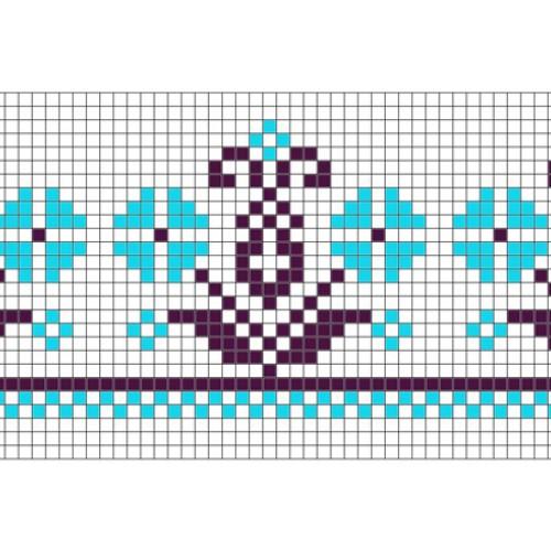 """Бесплатная схема для вышивки крестом """"Орнамент 68"""""""
